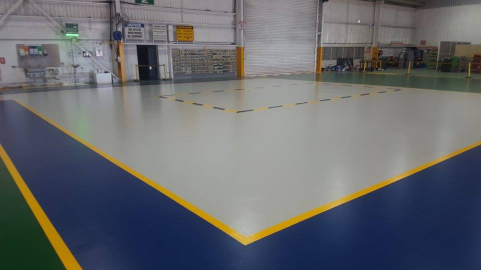 BHP workshop Floor Epoxy
